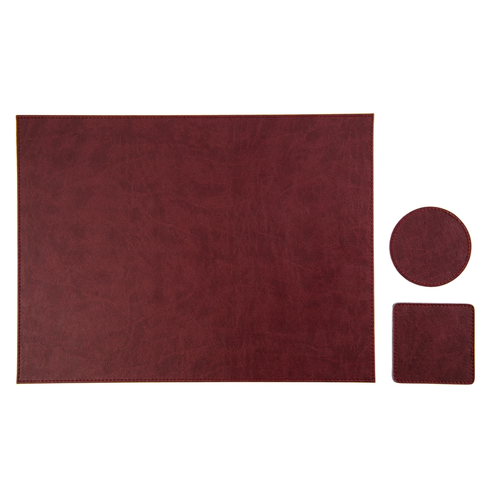 Deskpad LeatherLike bordo