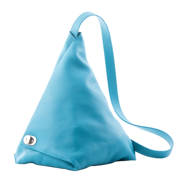 Rucsac piele naturala Vernazza, Turquoise