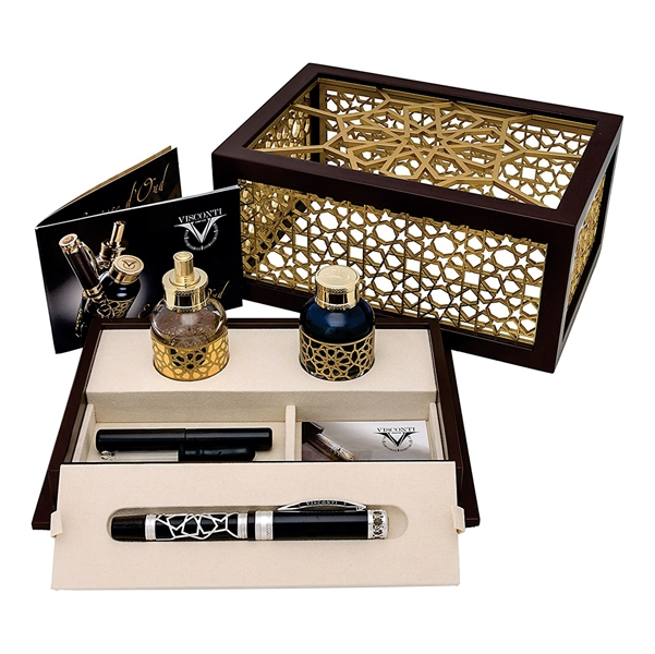 Set Stilou + Calimara Visconti Extase d'Oud 681AG23