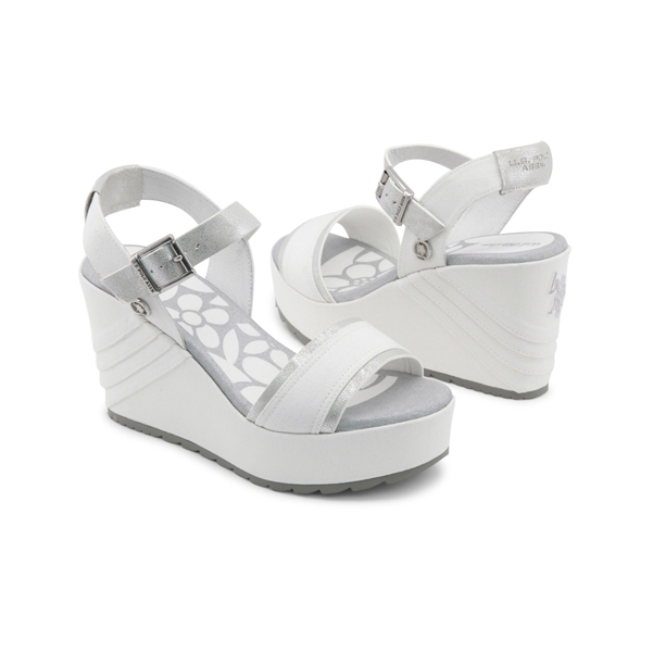 U.S. Polo Wedges White 2